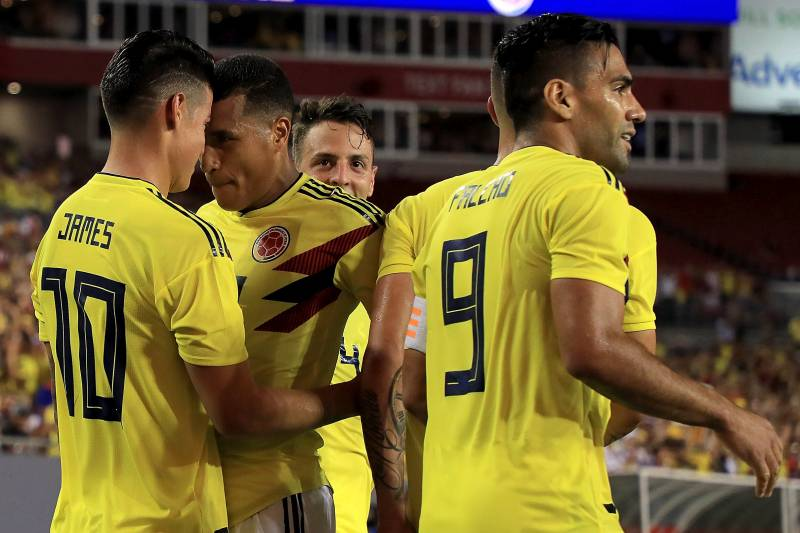 pretty nice dc545 81b78 James Rodriguez, Colombia Beats USA Men's Soccer 4-2 in 2018 ...