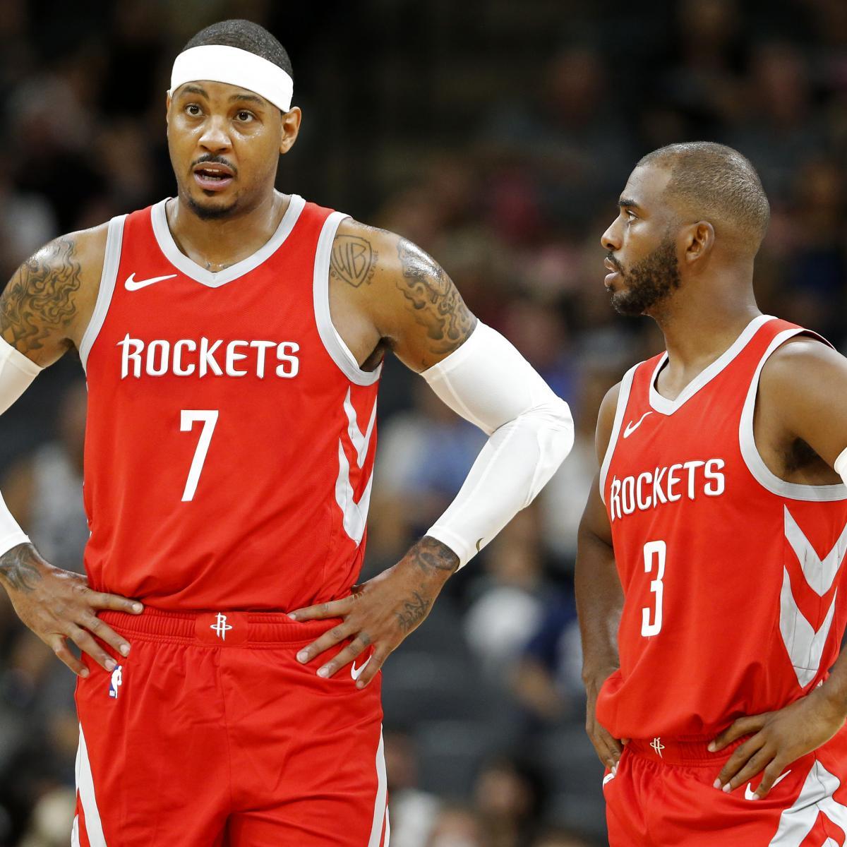 Houston Rockets Defensive Coach: How James Harden, Chris Paul Can Maximize Carmelo Anthony