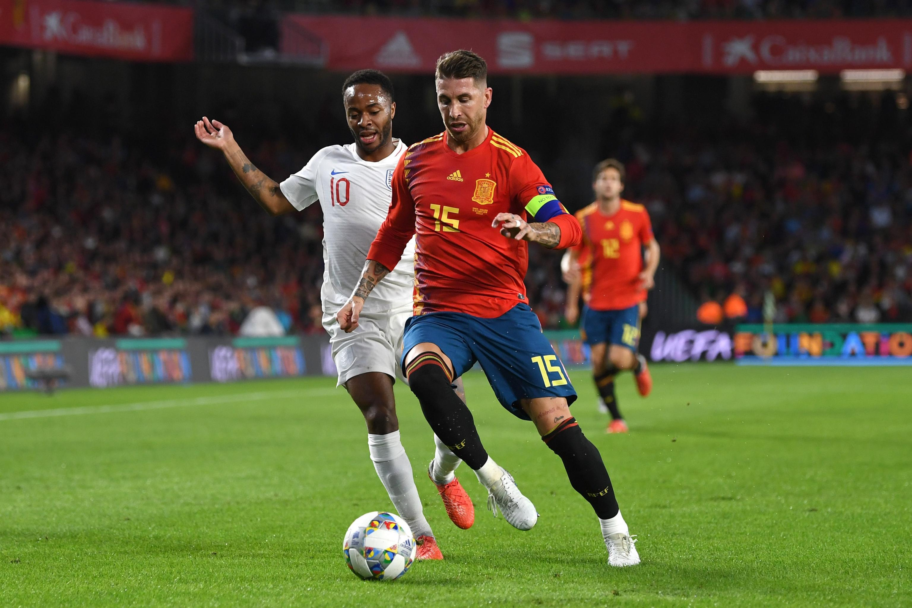 Sergio Ramos Posts Twitter Video of Incident Involving Raheem Sterling |  Bleacher Report | Latest News, Videos and Highlights