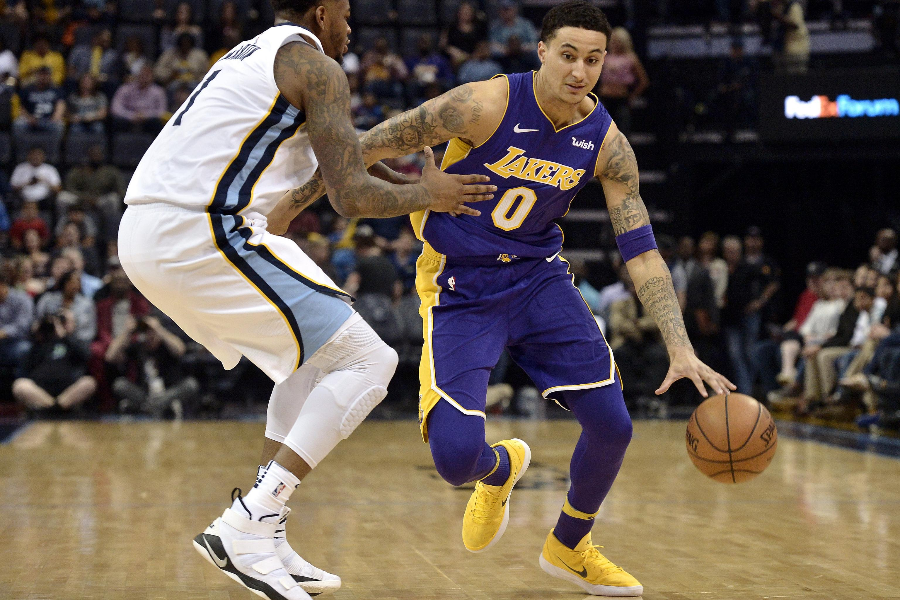 brand new 88008 a7c3d Lakers News: Kyle Kuzma Announced by GOAT as NBA Brand ...