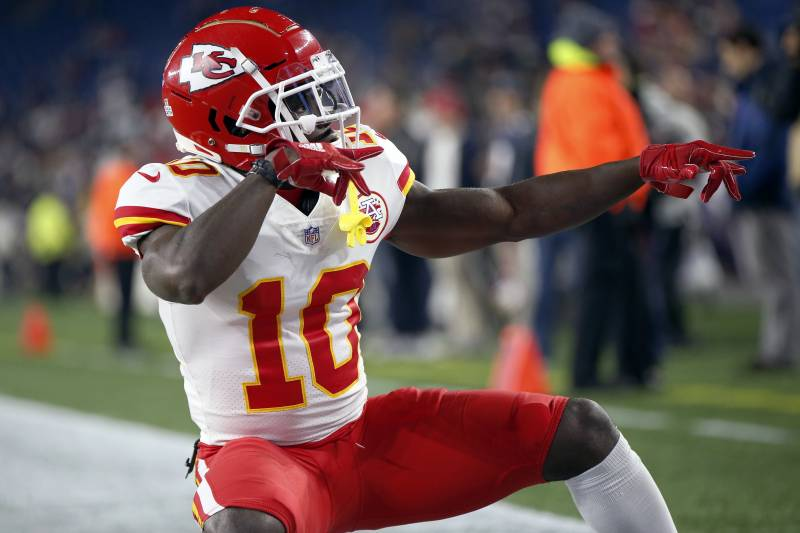 e2e7bd9fc Kansas City Chiefs wide receiver Tyreek Hill strikes a pose as he warms up  before an