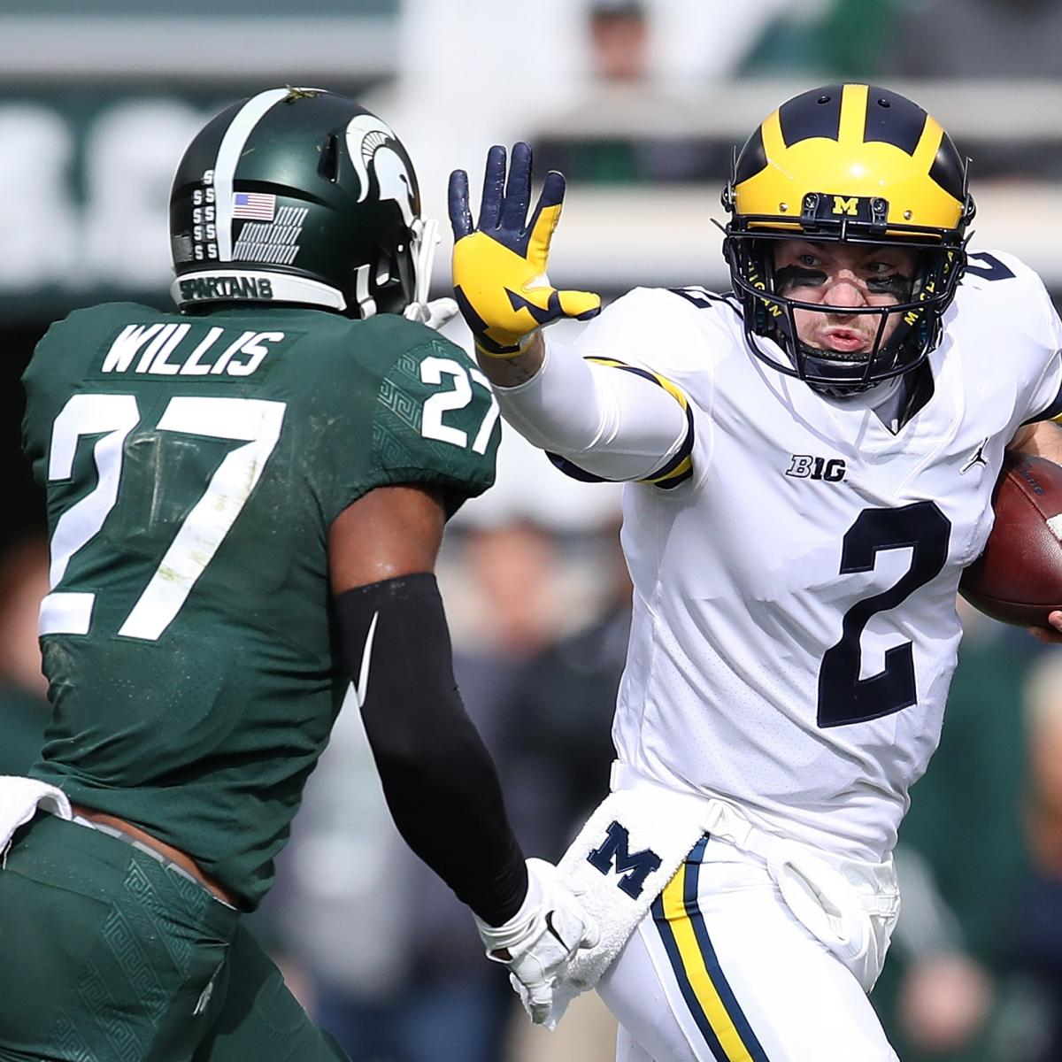 Michigan State Players Clotheslined Michigan Player, Devin ...