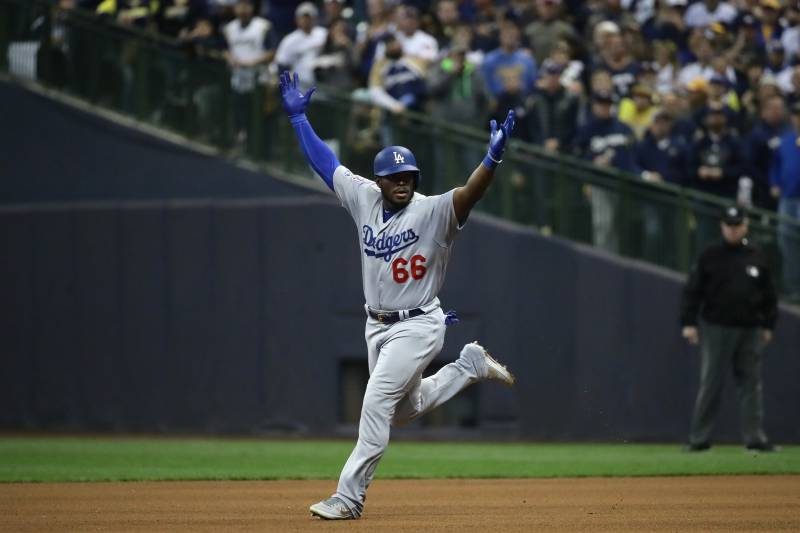 b29858481 Yasiel Puig Powers Dodgers Past Brewers into World Series vs. Red ...