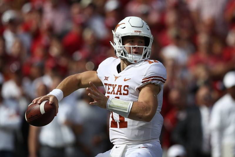 detailed look 655bb 0e361 Texas QB Sam Ehlinger 'On Schedule' to Return from Shoulder ...