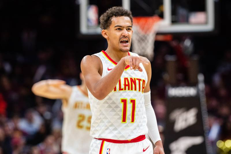 22f36a7a2f7 Trae Young Scores 17 in Hawks  Win over Luka Doncic