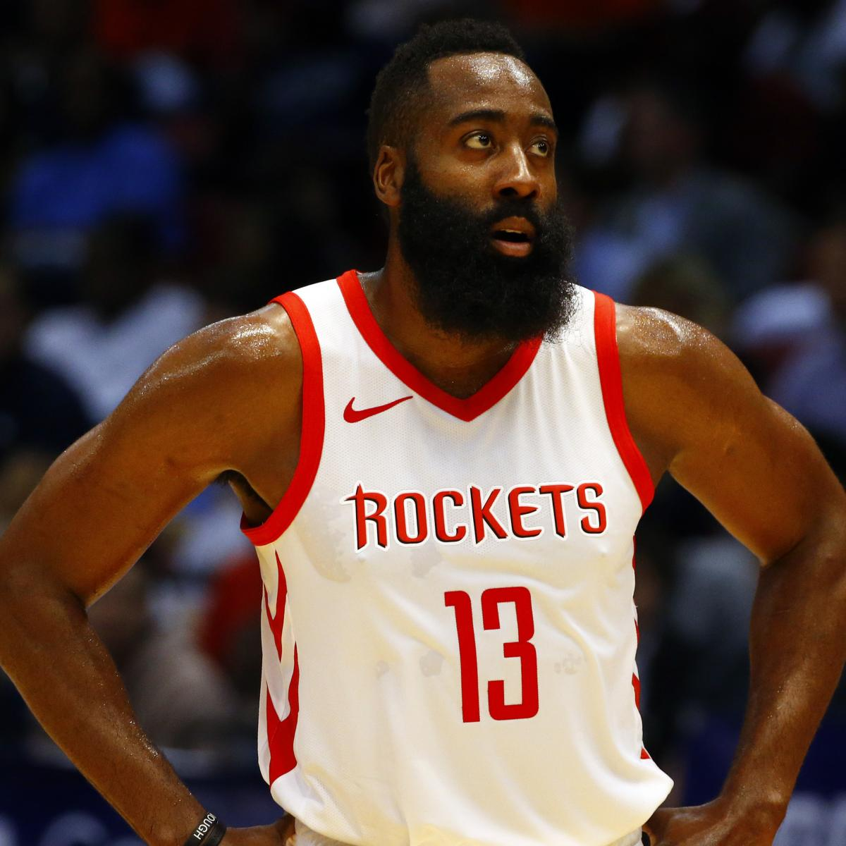 James Harden Latest News: Rockets' James Harden Out Vs. Warriors With Neck Injury