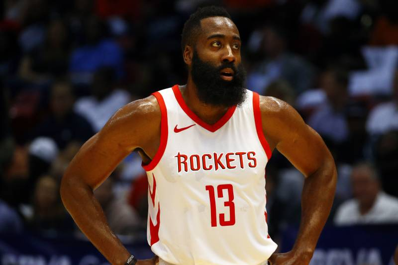 40500640ef64 Houston Rockets guard James Harden (13) waits for the ball to be thrown in