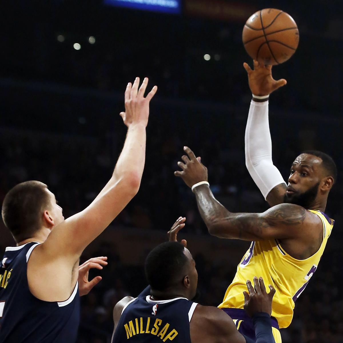 Lonzo Ball, Lakers Beat Nuggets Behind LeBron James Triple