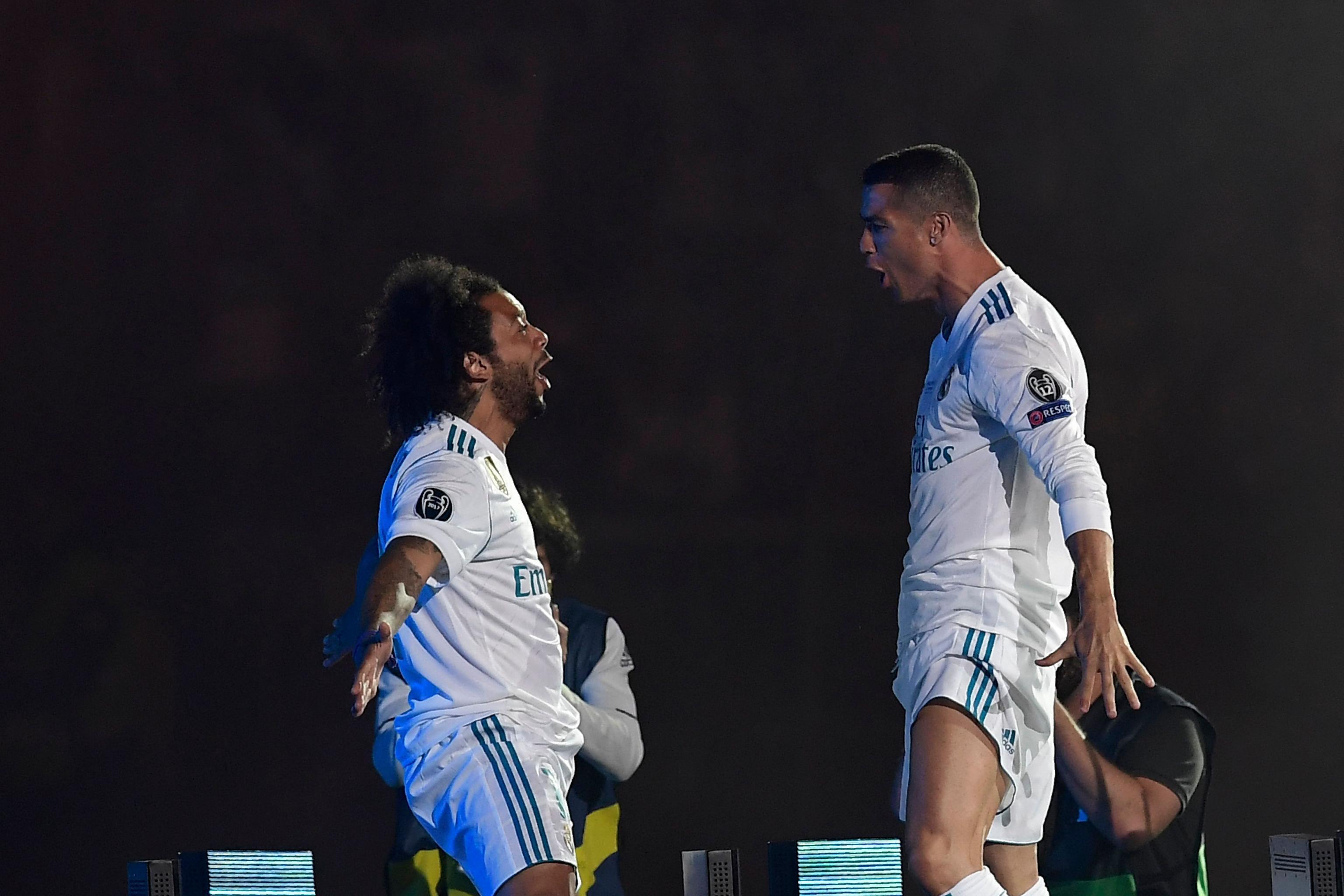 Marcelo and Cristiano Ronaldo