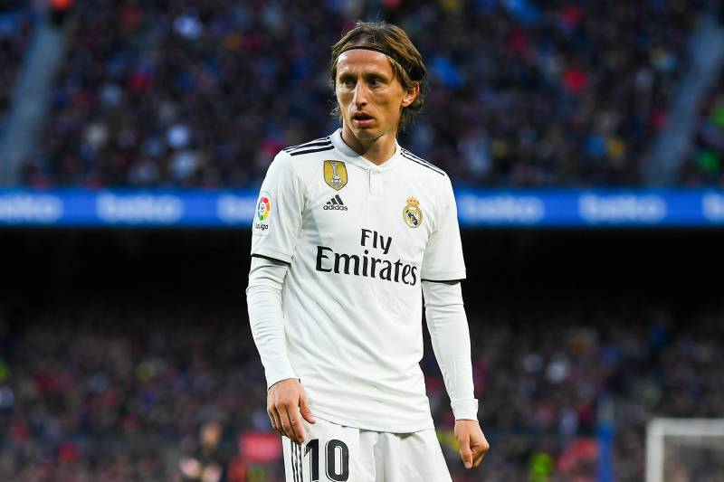 cdcf62a9249 BARCELONA, SPAIN - OCTOBER 28: Luka Modric of Real Madrid CF looks on during