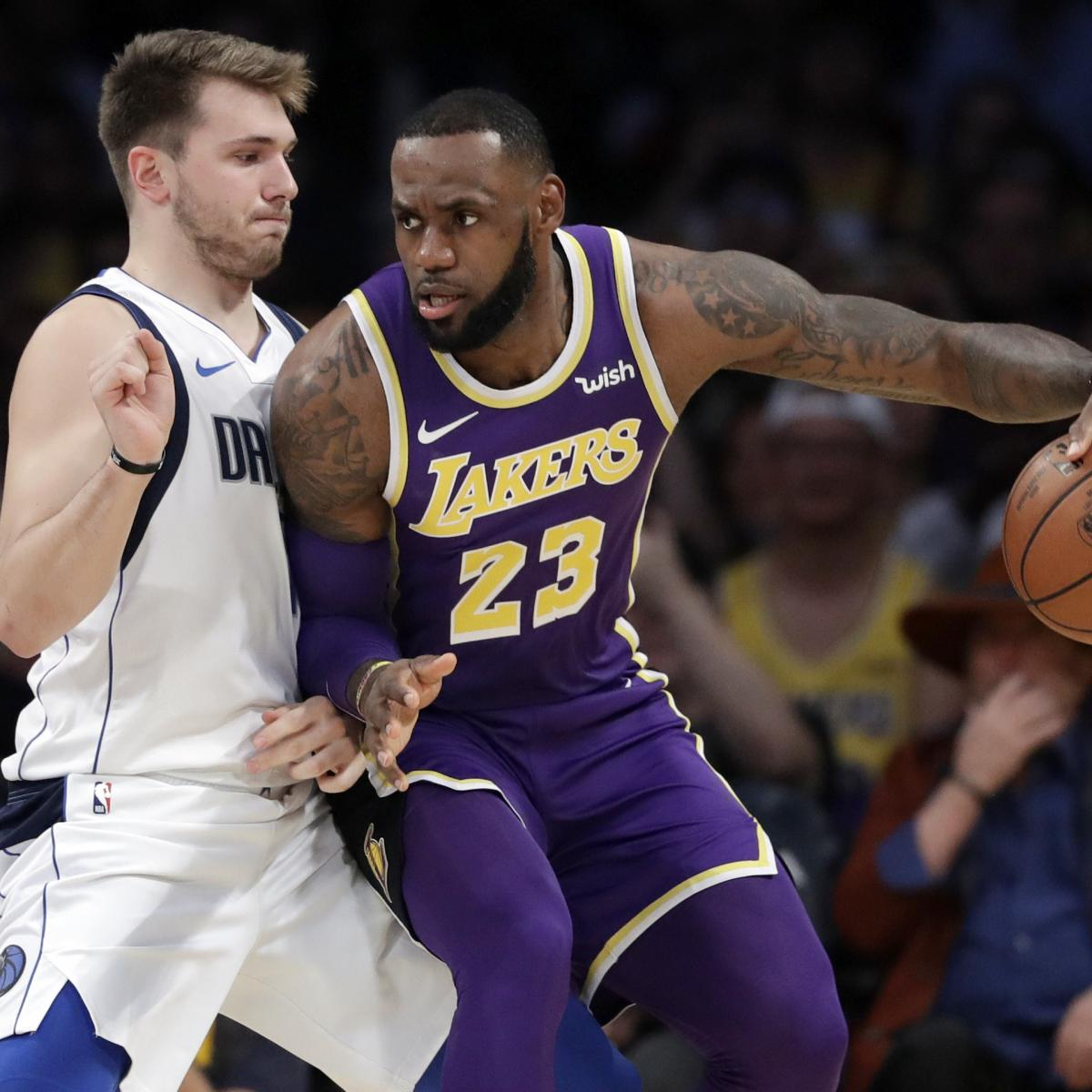 LeBron James Outshines Struggling Luka Doncic As Lakers
