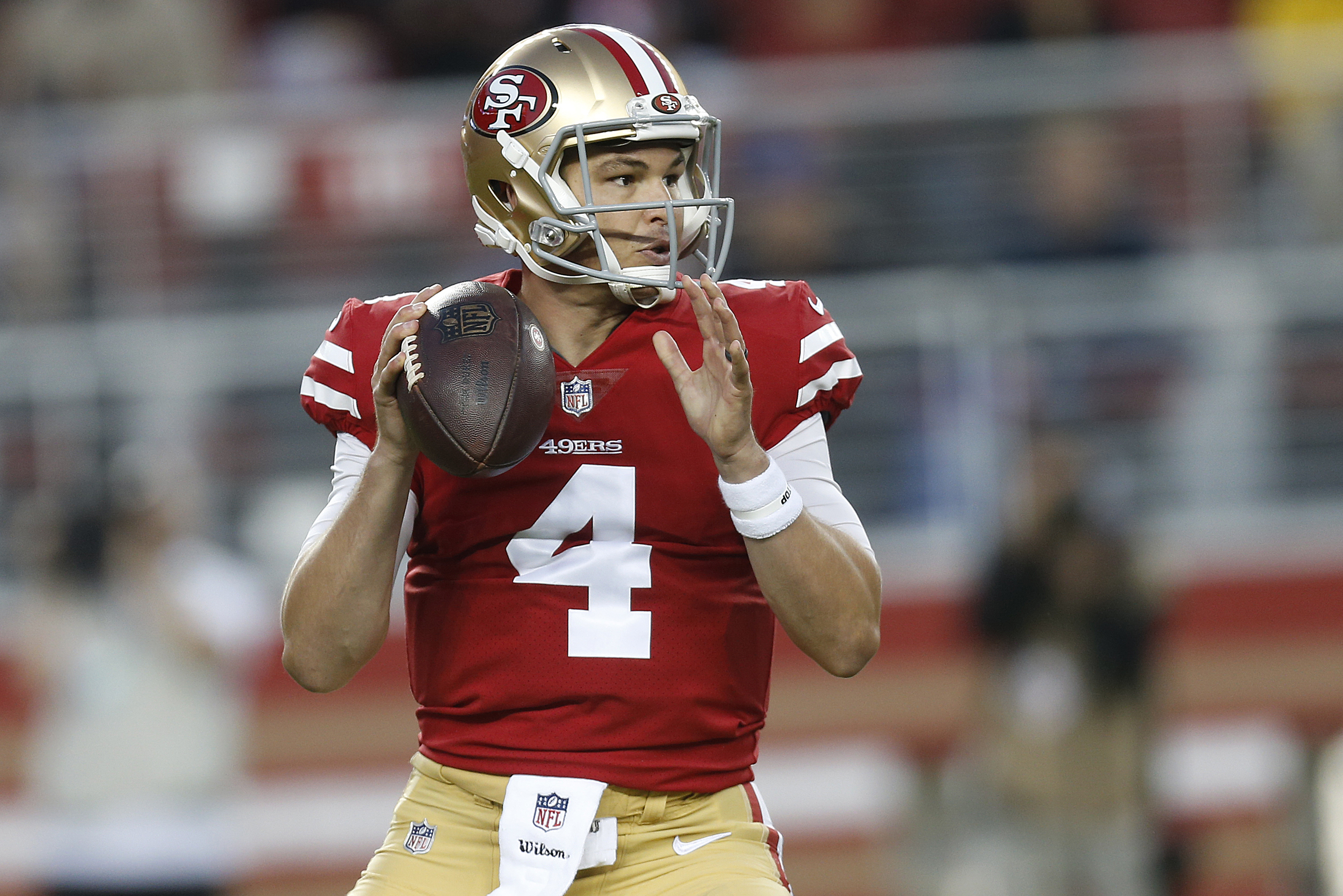quality design 4090a 1c026 Nick Mullens to Start for 49ers vs. Raiders Due to C.J. ...