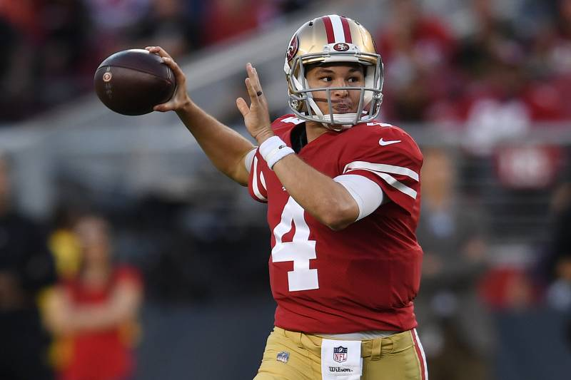 promo code 032c2 4bf18 Shanahan to 'Consider' Nick Mullens as 49ers' Starter When ...