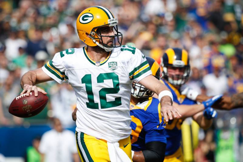 b91fb7f3d03 After falling short against the Rams, Aaron Rodgers and the Packers embark  on another marquee