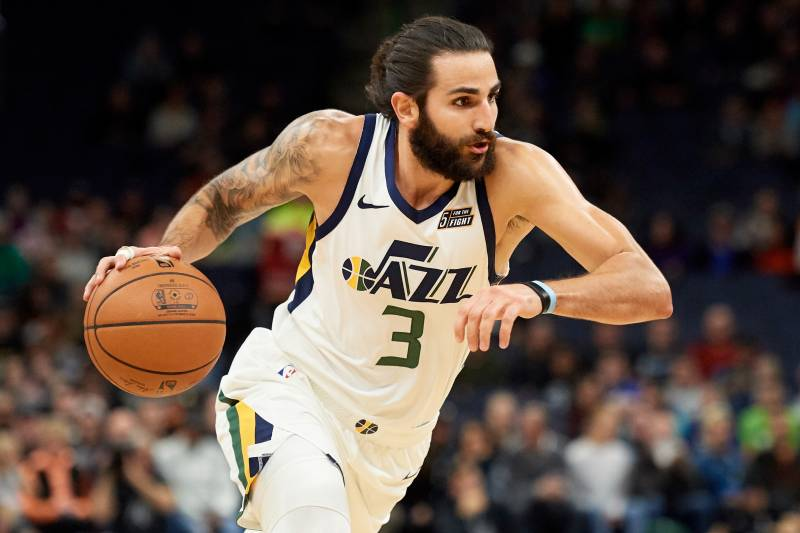 buy online ab48a cef9e Ricky Rubio Ruled Out vs. Knicks with Back, Knee Injuries ...