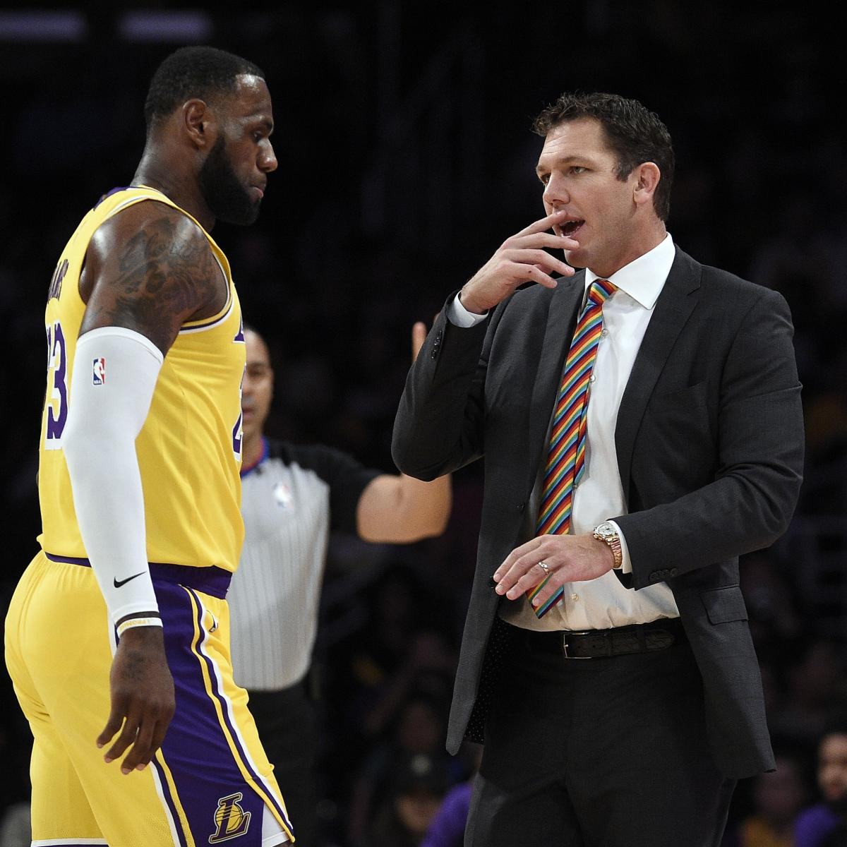 Portland Trail Blazers Coach: LeBron James Gives Luke Walton Vote Of Confidence After