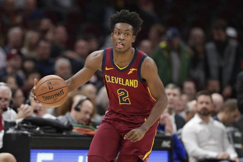 d5e8c321a7f5 Cleveland Cavaliers  Collin Sexton drives against the Denver Nuggets in the  first half of an