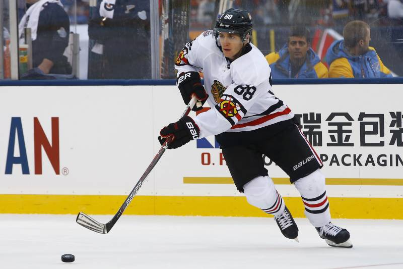 fb81949d940 Chicago Blackhawks Unveil  Back in Black  Winter Classic Jerseys ...
