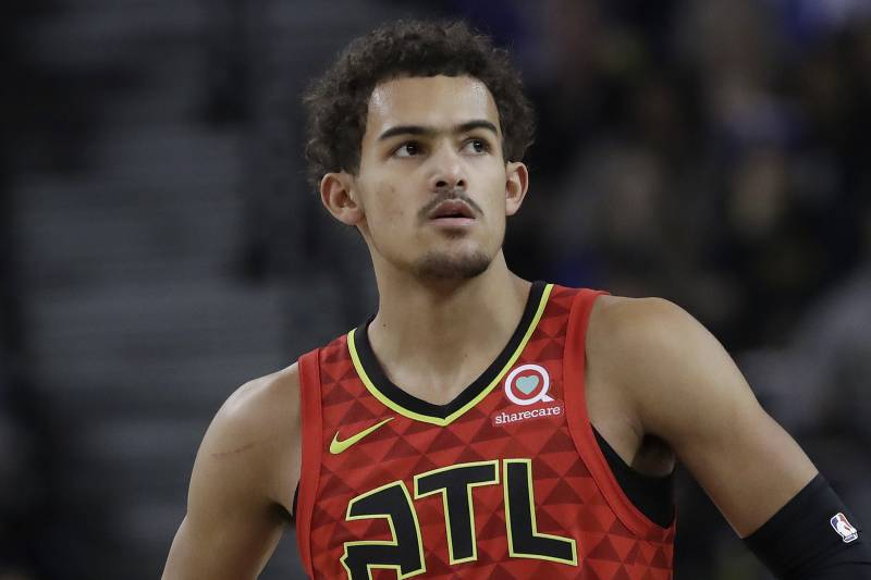 708c608f106 Atlanta Hawks guard Trae Young against the Golden State Warriors during an NBA  basketball game in