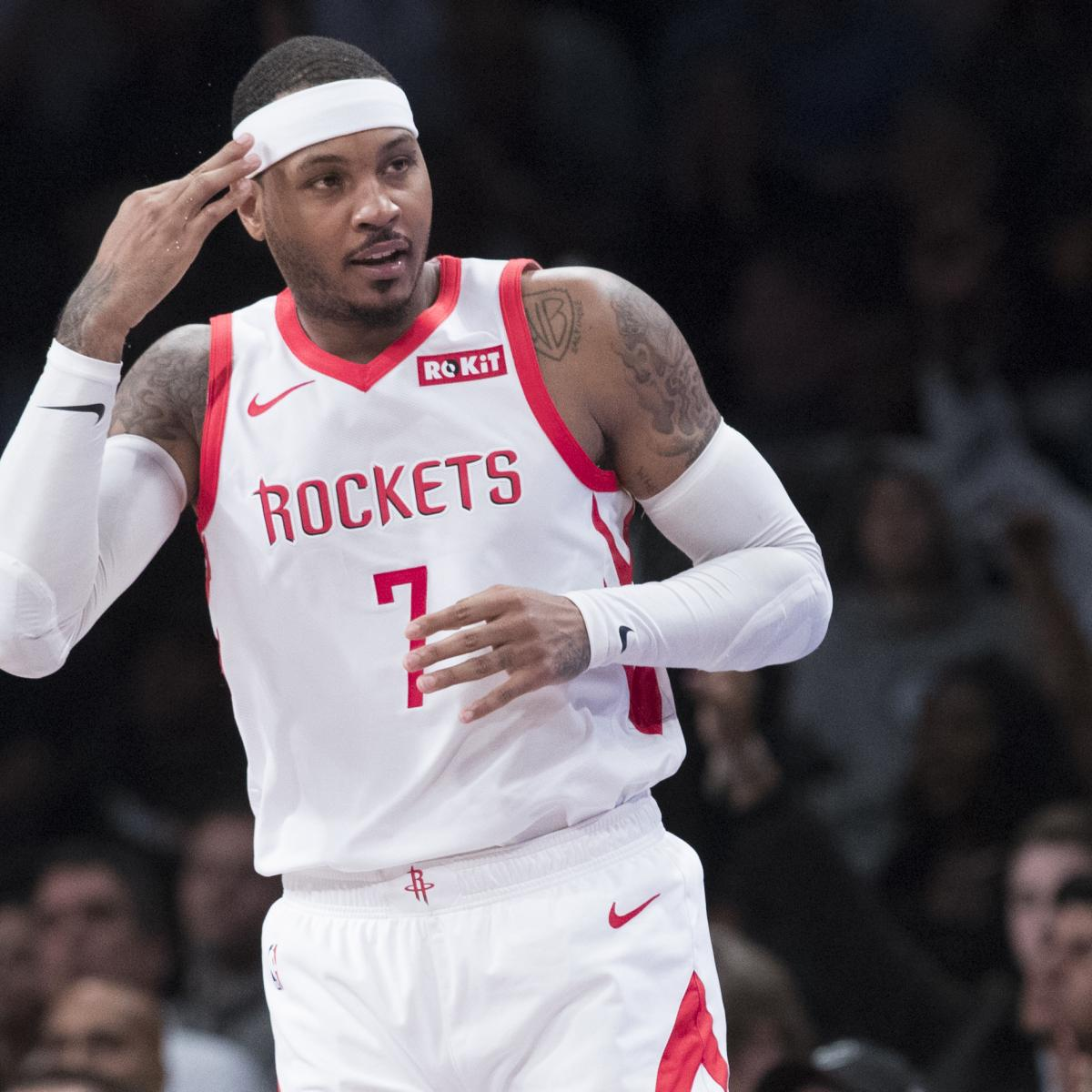 Houston Rockets News Trade: Carmelo Anthony Traded To Bulls From Rockets; Likely To Be