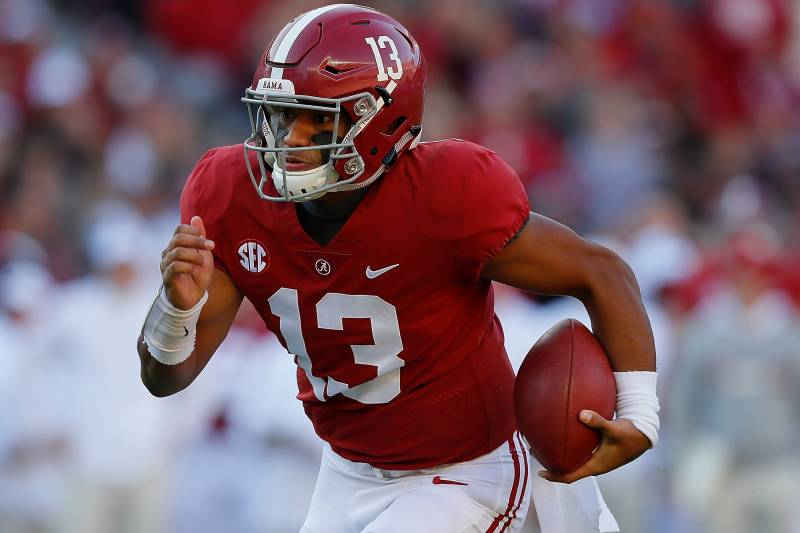 88a8c291d Heisman Favorite Tua Tagovailoa Totals 4 TDs in Alabama s 50-17 Win ...