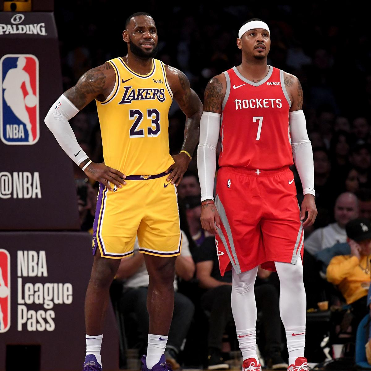 e9b8ce083e0 Lakers Rumors  Buzz on Carmelo Anthony and Team s Pursuit of Anthony Davis