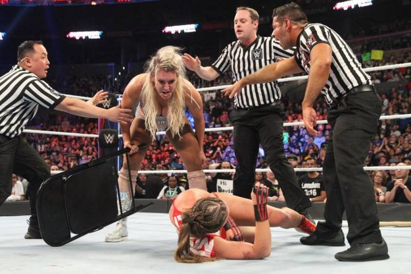 Image result for ronda vs charlotte survivor series""