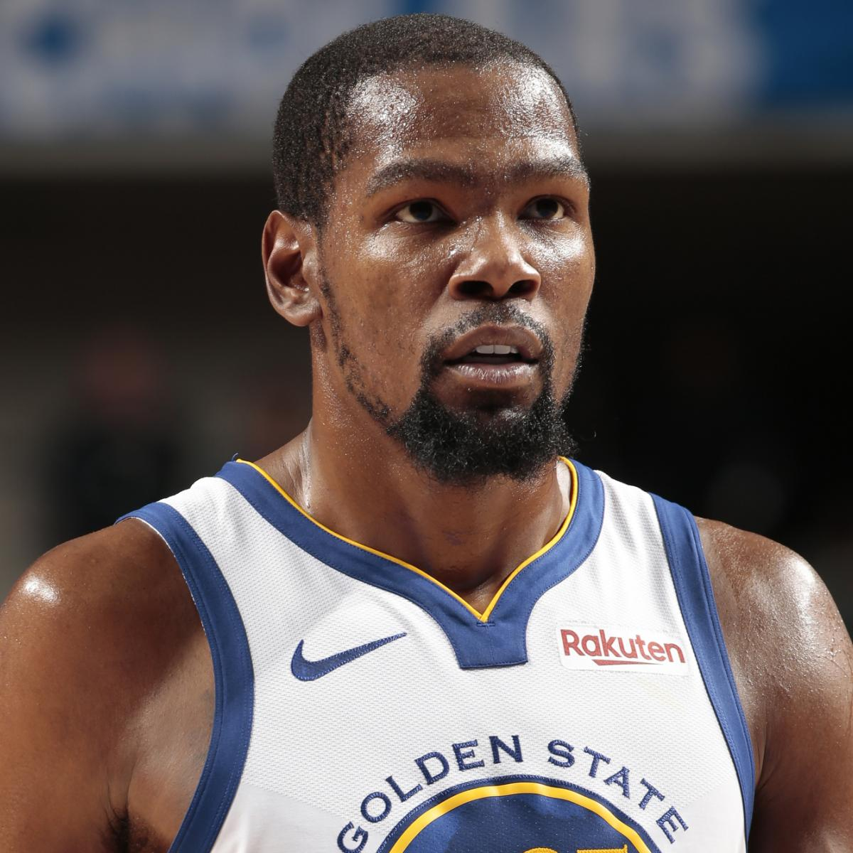 newest collection cfcf9 ec2d3 Kevin Durant Fined  25K for Reportedly Telling Fan to  Shut the F--k Up     Bleacher Report   Latest News, Videos and Highlights