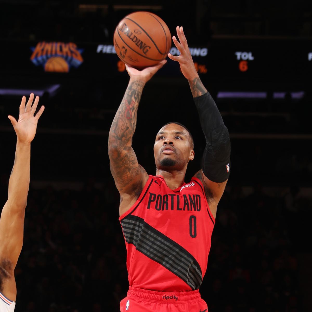 Damian Lillard, Trail Blazers Beat Knicks 118-114; Kevin
