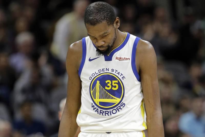 super popular 83da9 5789b Golden State Warriors forward Kevin Durant (35) walks down court after a  play during