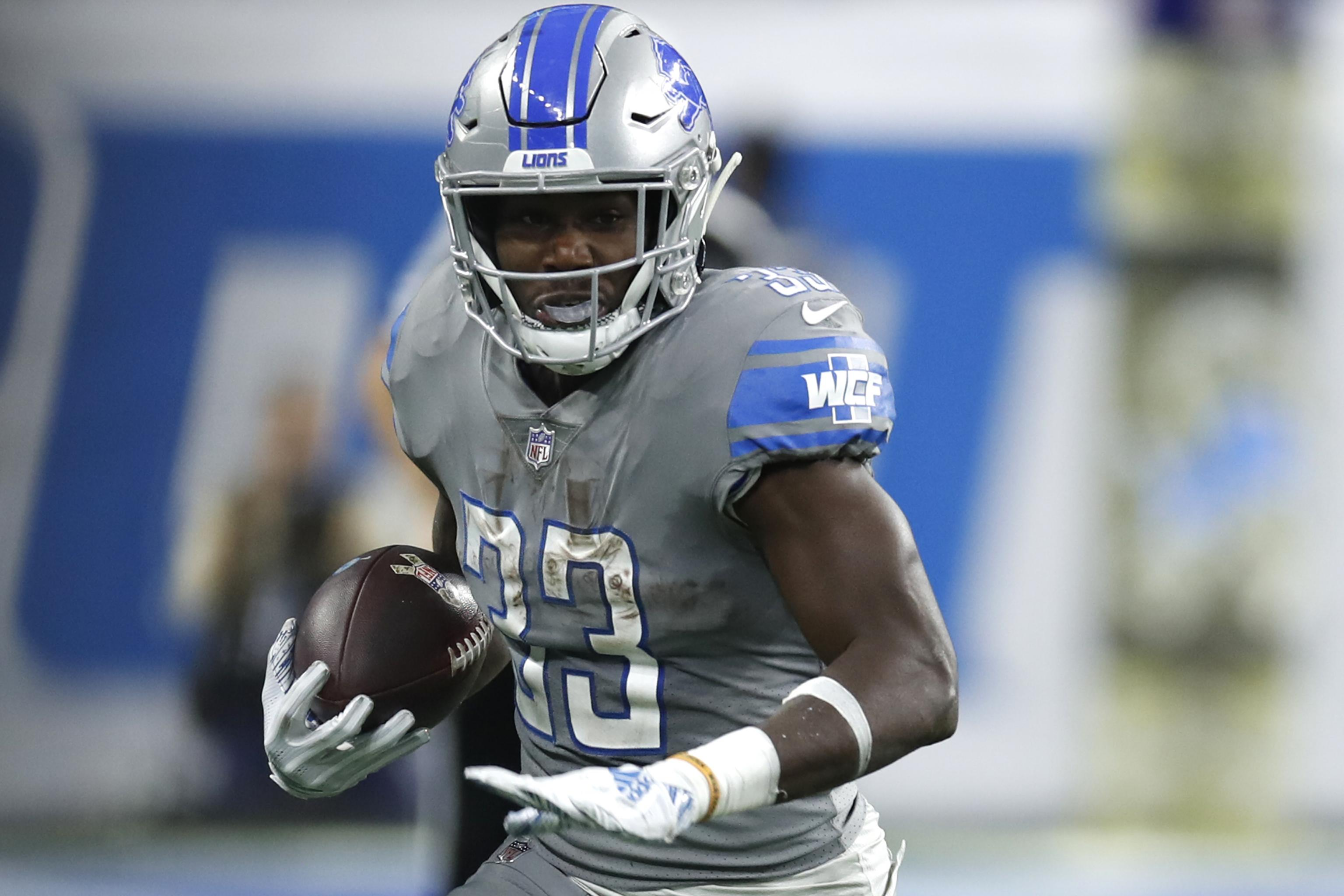 finest selection af78d 30d84 Lions Reportedly Place Kerryon Johnson on Injured Reserve ...
