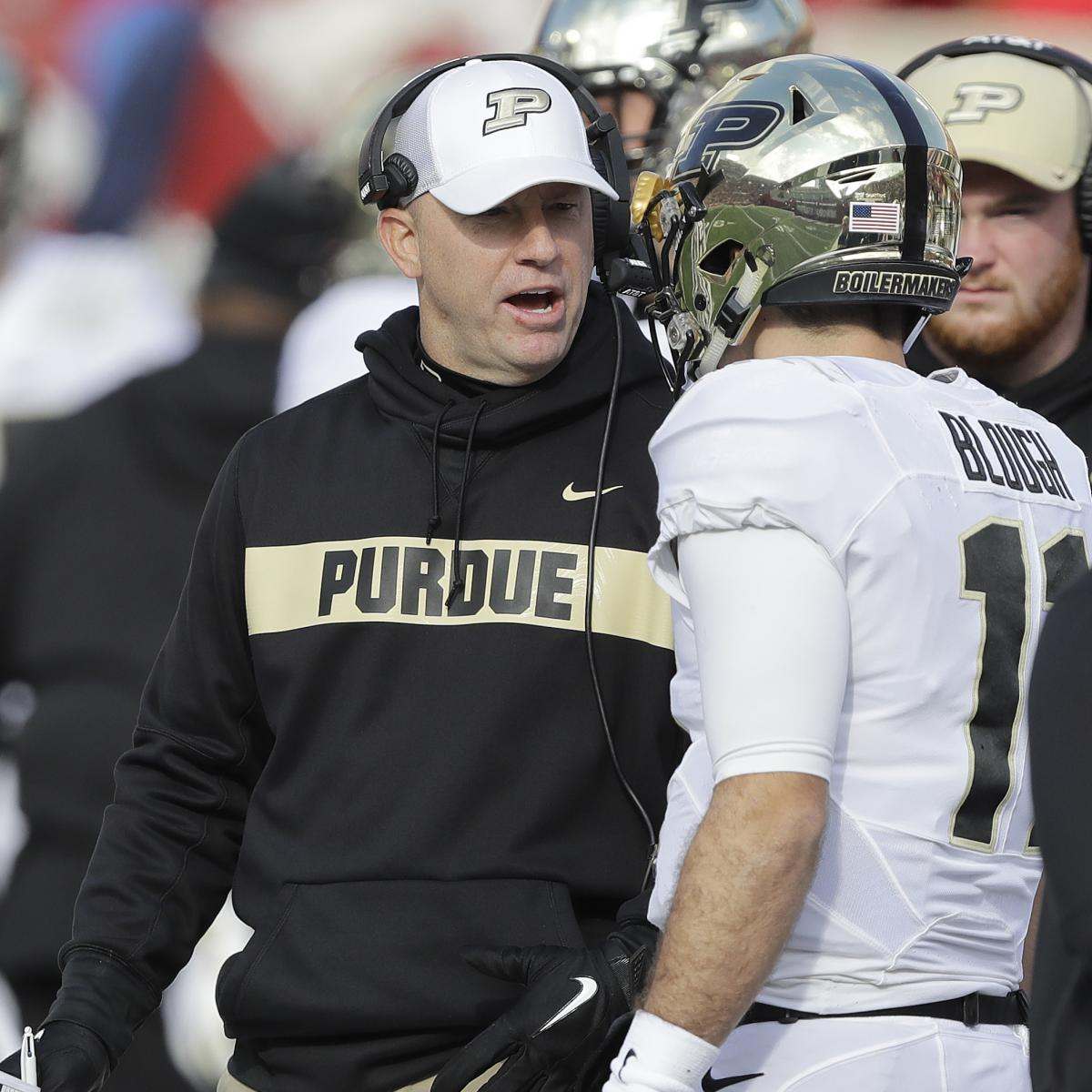Jeff Brohm on Louisville Coaching Rumors: Purdue Is Where ...