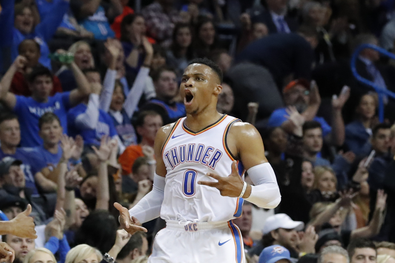 Russell Westbrook Ties Jason Kidd for 3rd-Most Triple-Doubles in NBA History