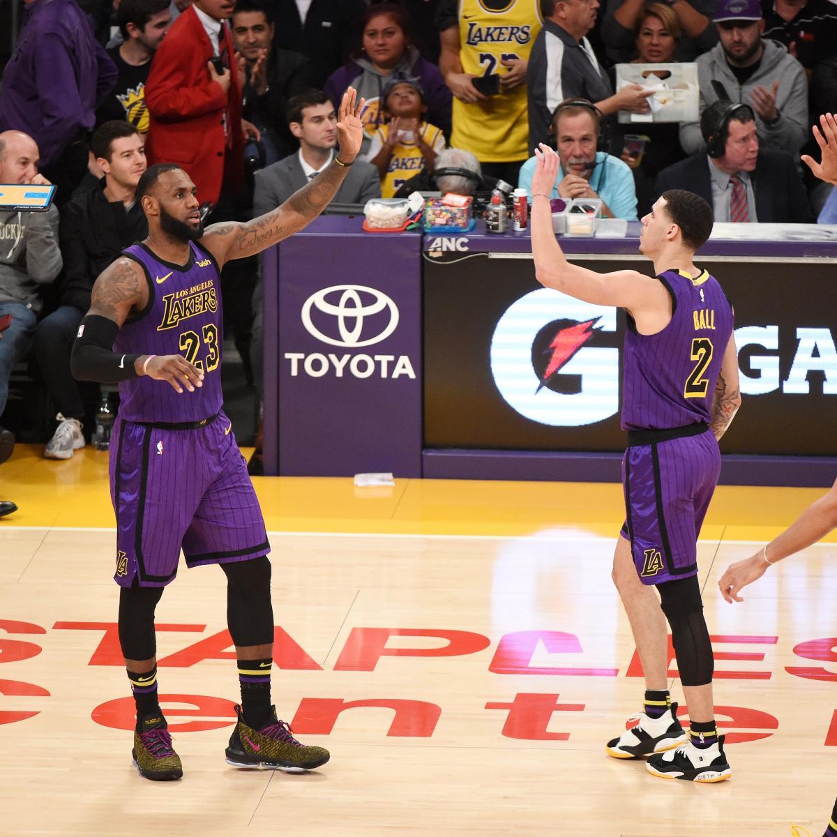 Lebron James Lakers Beat Luka Doncic Mavericks Lonzo Ball