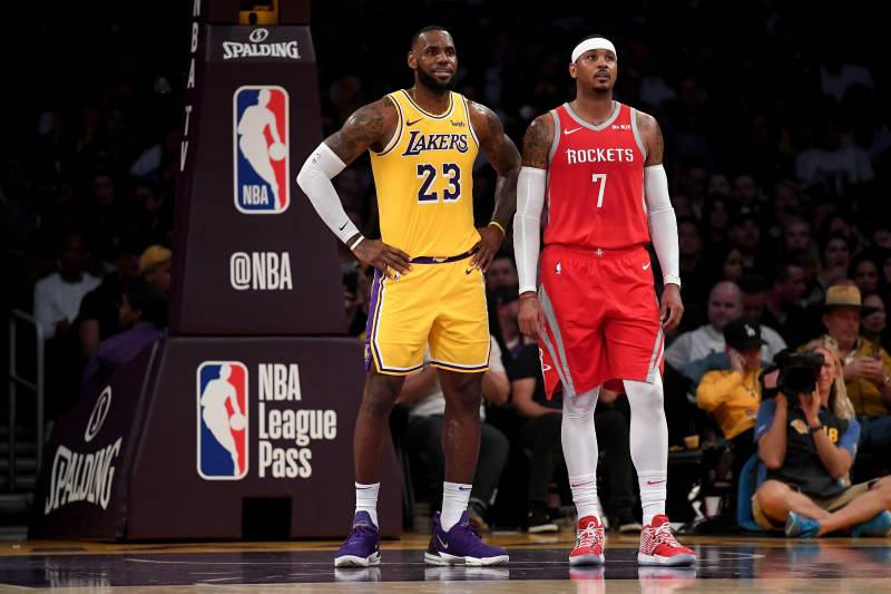 best sneakers e6e58 3c391 Lakers Rumors: Latest Buzz on Carmelo Anthony Joining LeBron ...