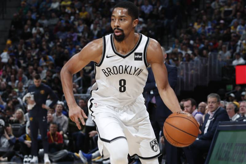 fa55acd484b Brooklyn Nets guard Spencer Dinwiddie (8) in the second half of an NBA  basketball
