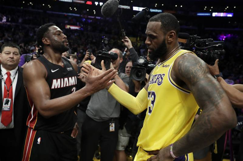 a7e48ff6ca33 LeBron James Tells Dwyane Wade  It Was Here or the Garden  After Last  Matchup