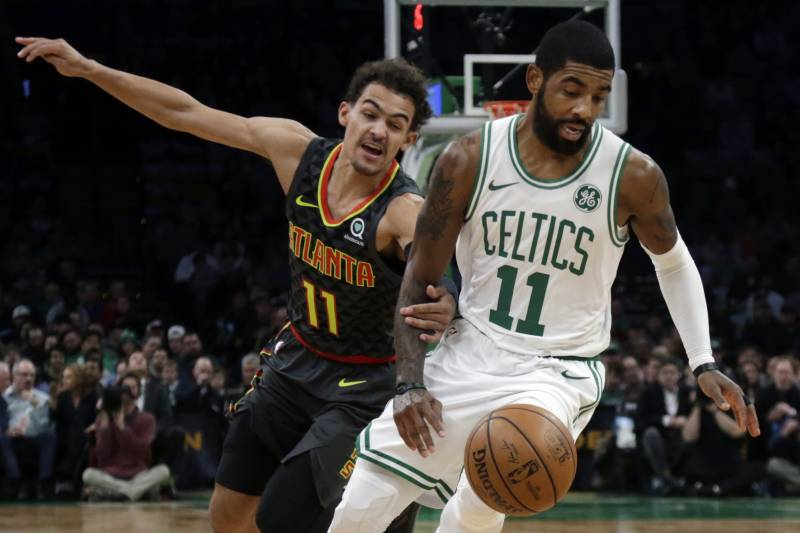 900c4b5432c6 Kyrie Irving Drops 24 as Celtics Cruise Past Trae Young