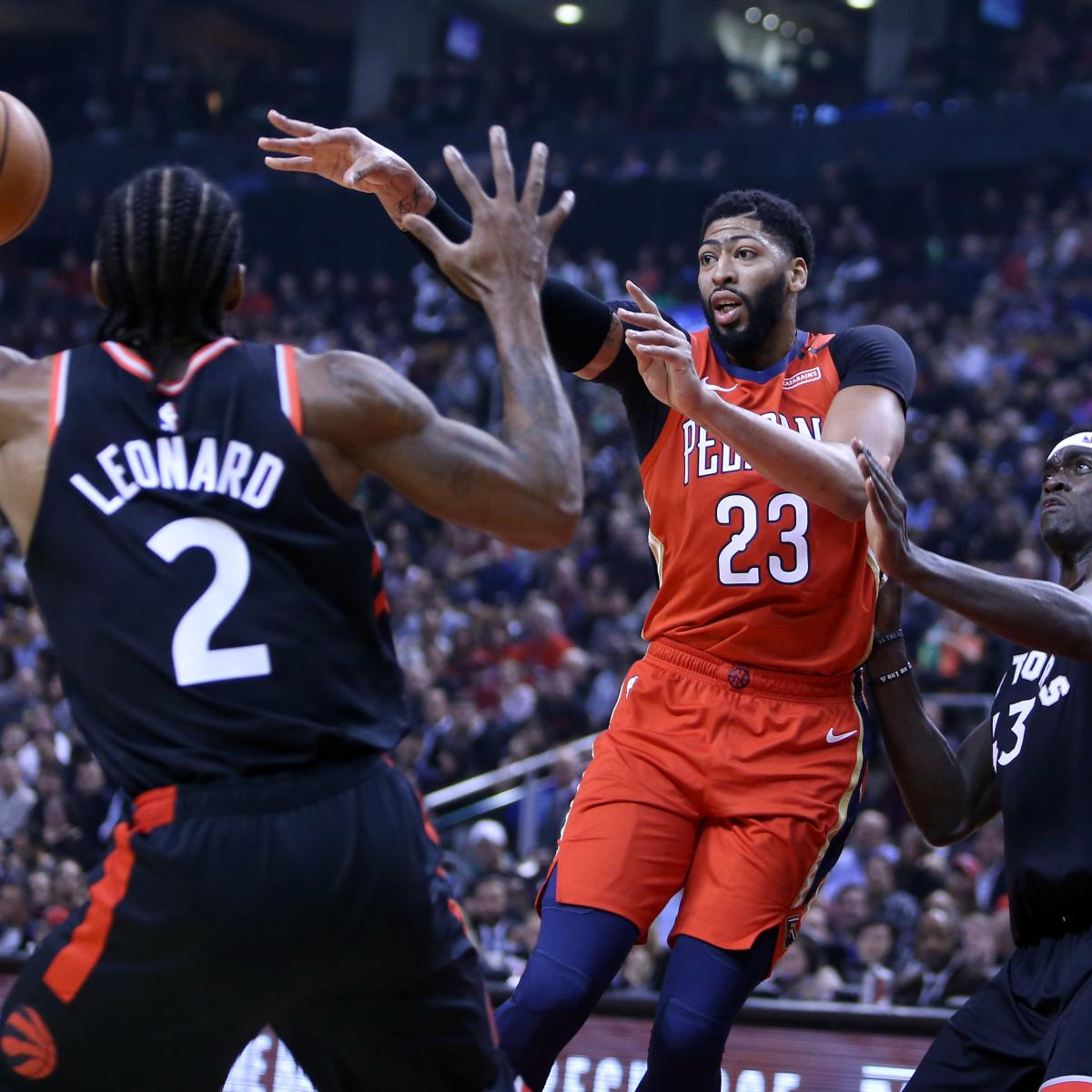 52ce24527dc Lakers Rumors: Latest Buzz on Anthony Davis Trade, Kawhi Leonard Free  Agency | Bleacher Report | Latest News, Videos and Highlights