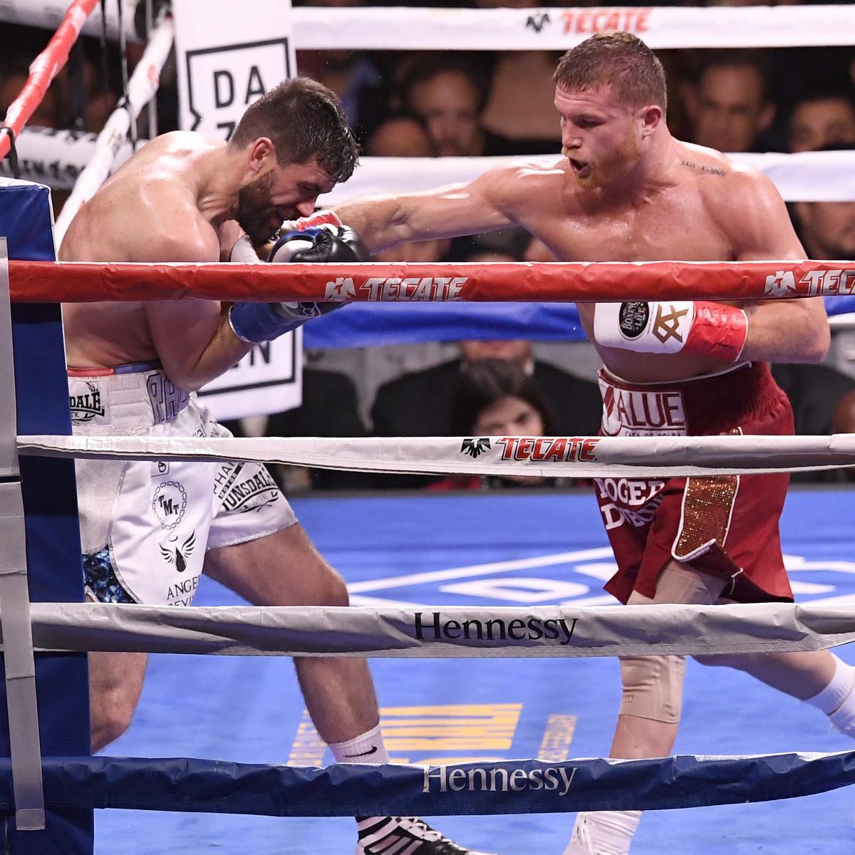 Canelo Alvarez Beats Rocky Fielding Via 3rd-Round TKO At