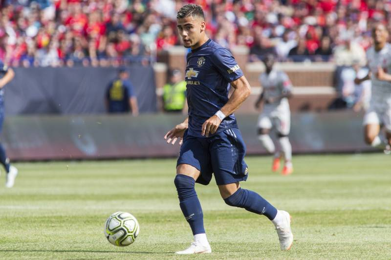 929b94995 Manchester United midfielder Andreas Pereira sprints dribbling the ball  during the first half of an International