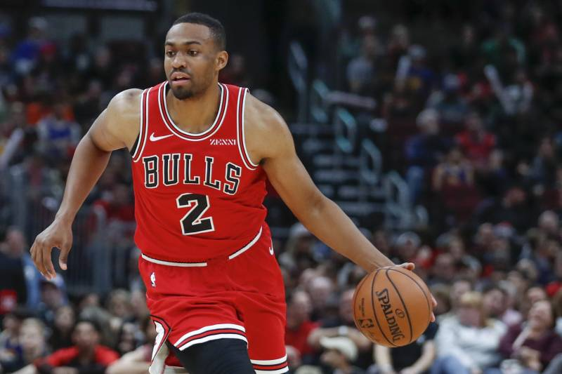 7050484bf Chicago Bulls forward Jabari Parker drives to the basket against the Golden  State Warriors during the