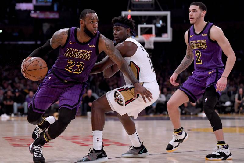 new product c42f2 ddaf1 Lakers News  Lonzo Ball Says LeBron James  Takes Pressure Off  Young LA  Players