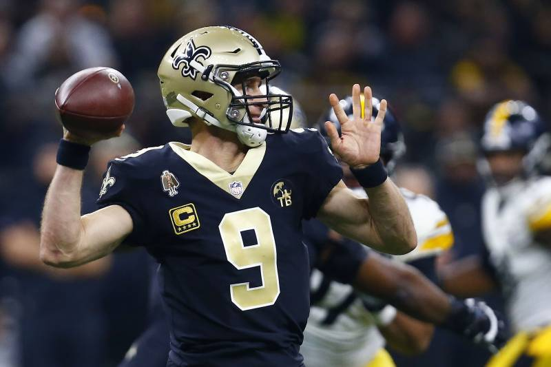 c5b0cfea1e8 New Orleans Saints quarterback Drew Brees (9) passes in the first half of an