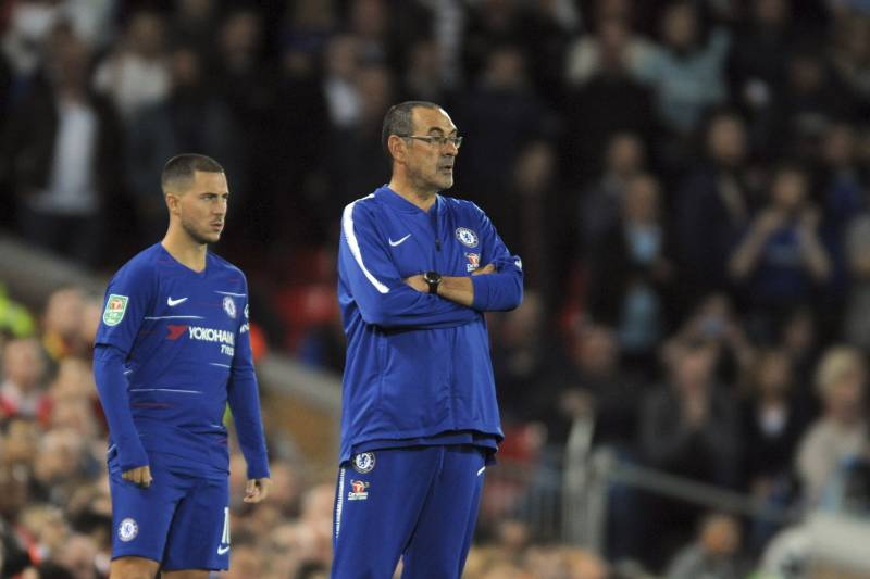 hot sales 84556 613ac Maurizio Sarri: 'It's Time to Decide' on Eden Hazard's New ...