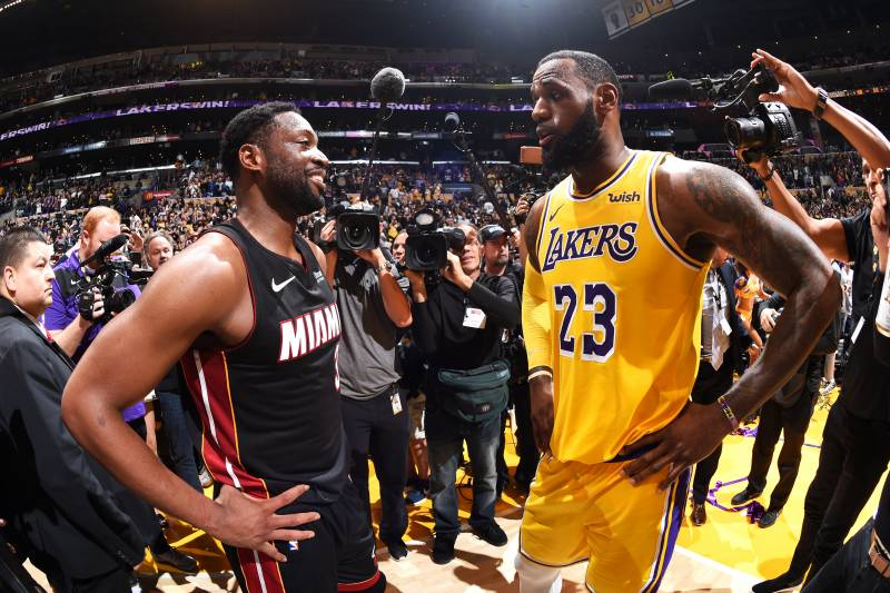 aef0737d6cfc Dwyane Wade Knew LeBron James   Ultimate Goal  Was to Sign with LA Lakers