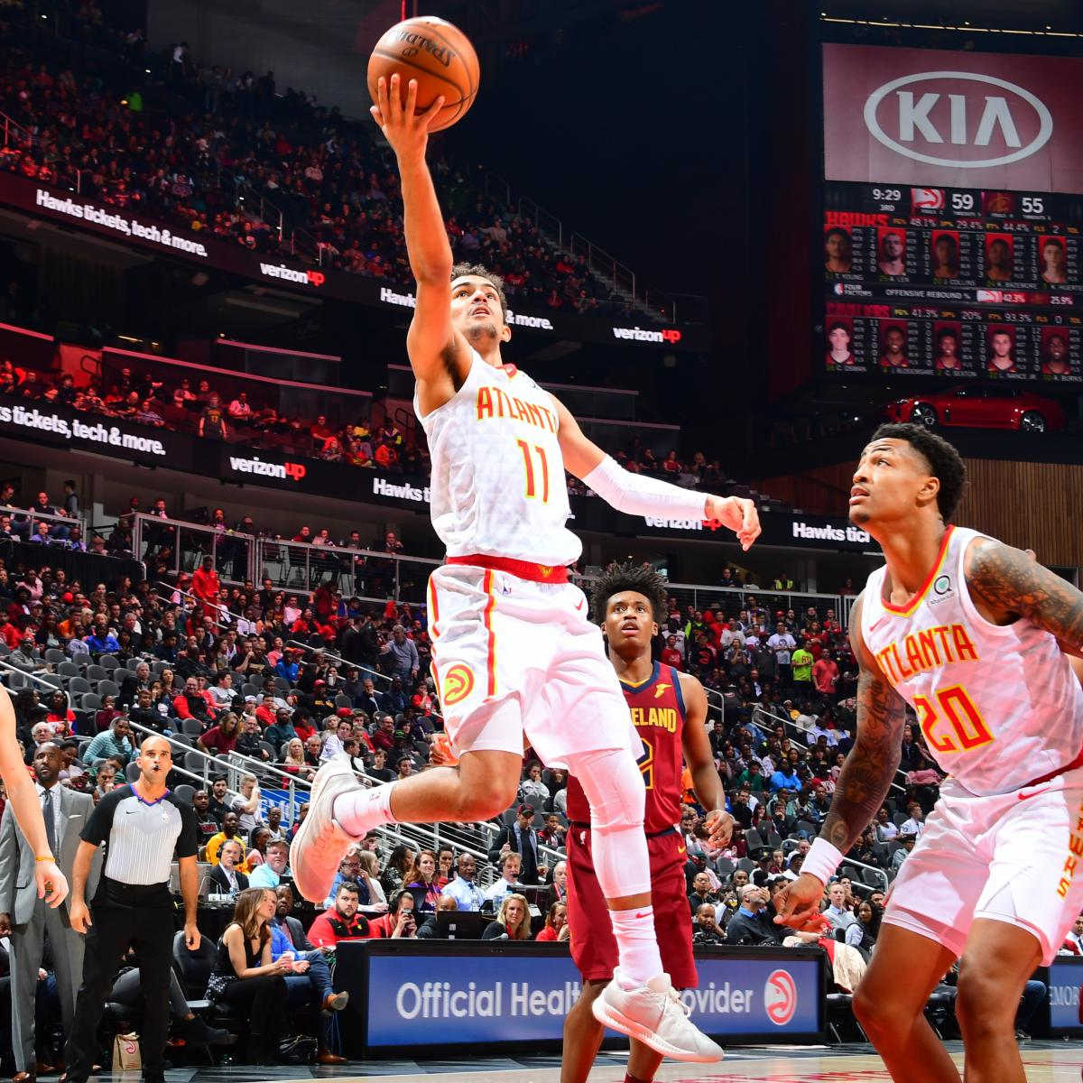 Trae Young Scores 21 As Hawks Top Collin Sexton, Cavaliers