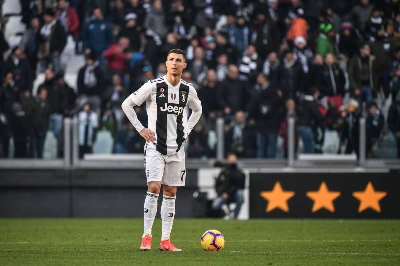 7e21d8152 Juventus  Portuguese forward Cristiano Ronaldo looks on during the Italian  Serie A football match Juventus