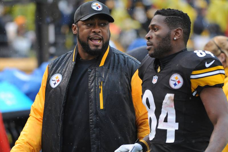 Antonio Brown Steelers >> Mike Tomlin Antonio Brown Hasn T Requested Trade Steelers