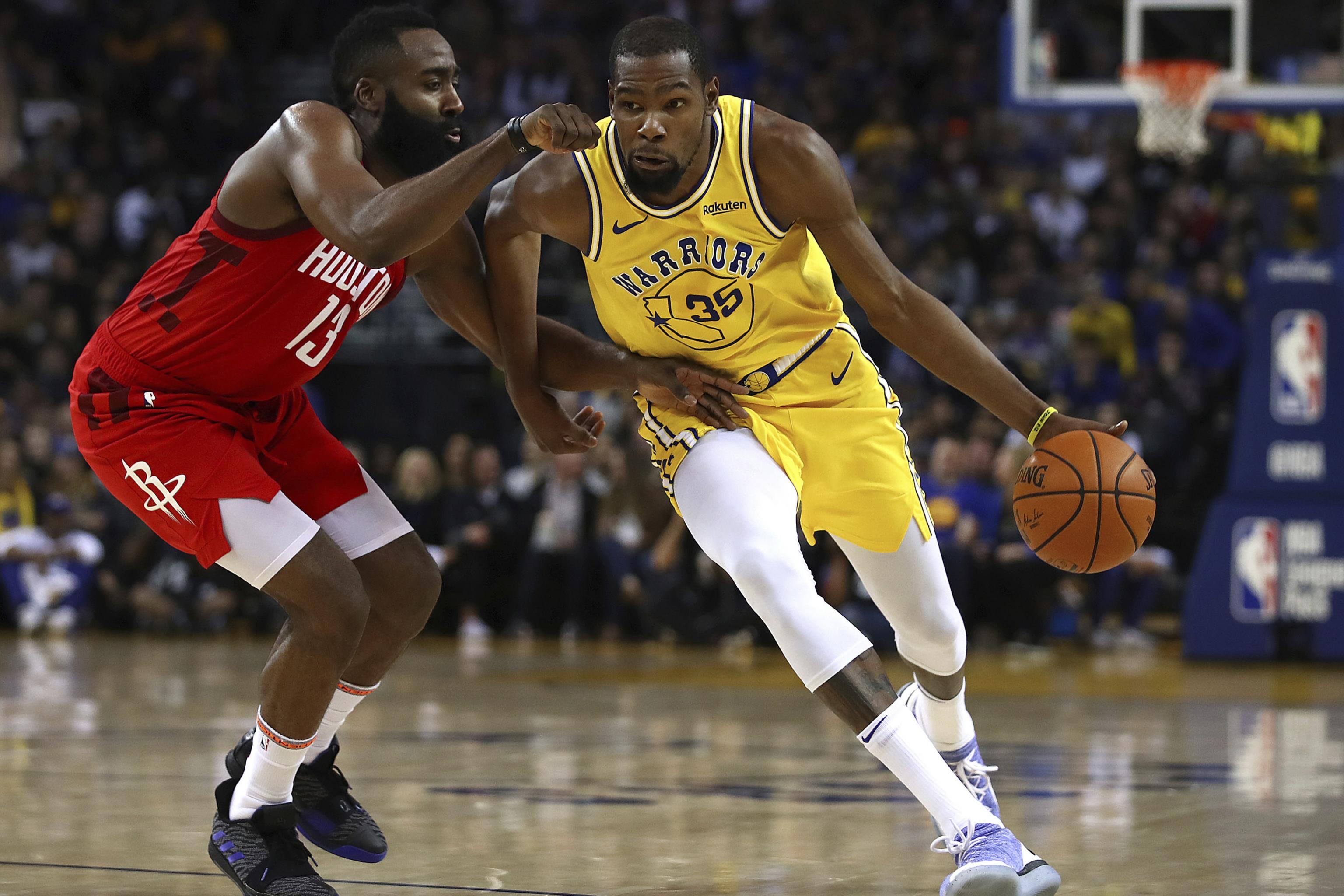 f7395bd3ec22 Rockets vs. Warriors L2M Report Confirms Kevin Durant Was Out of ...